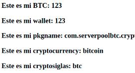 圖 9:Bitcoin (BTC) – Pool Mining Cloud Wallet 的提款回應畫面。Screenshot of Bitcoin (BTC) – Pool Mining Cloud Wallet app's fake withdrawal response page