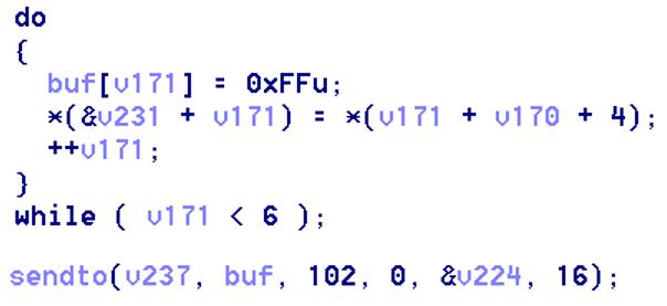 發送「神奇封包」(Magic Packet) 來喚醒裝置。 Figure 6. Sending the Magic Packet to devices