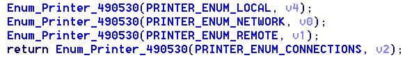 圖 7:搜尋網路印表機。Figure 7. Enumerating printers