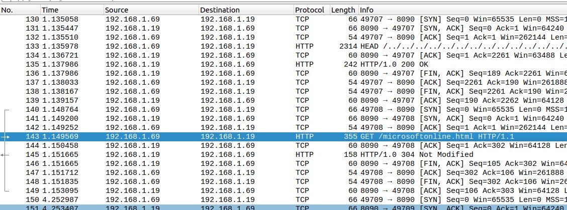 圖 2:FormBook 文件樣本網路流量擷取。Network capture of a FormBook document sample