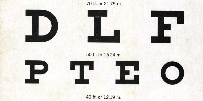 Test de ochi pentru optometrist