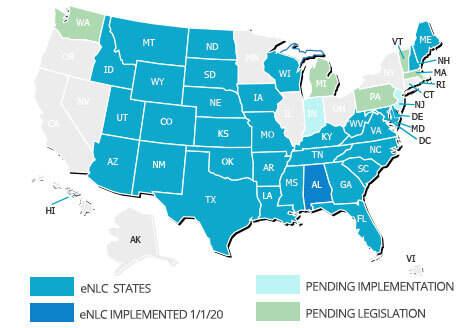 Nursing Compact States Map Nursing Compact States | American Traveler