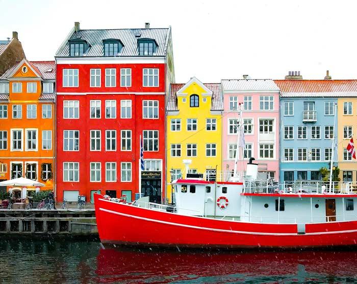 Boat at port in Copenhagen, Denmark