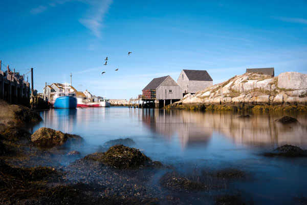 Peggy's Cove, a small rural community in Nova Scotia's Halifax Regional Municipality