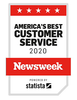 newsweek best travel insurance customer service 2020 award badge