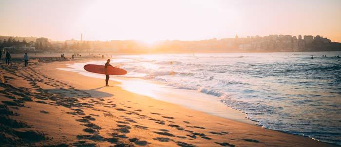 sufer on an Australian beach