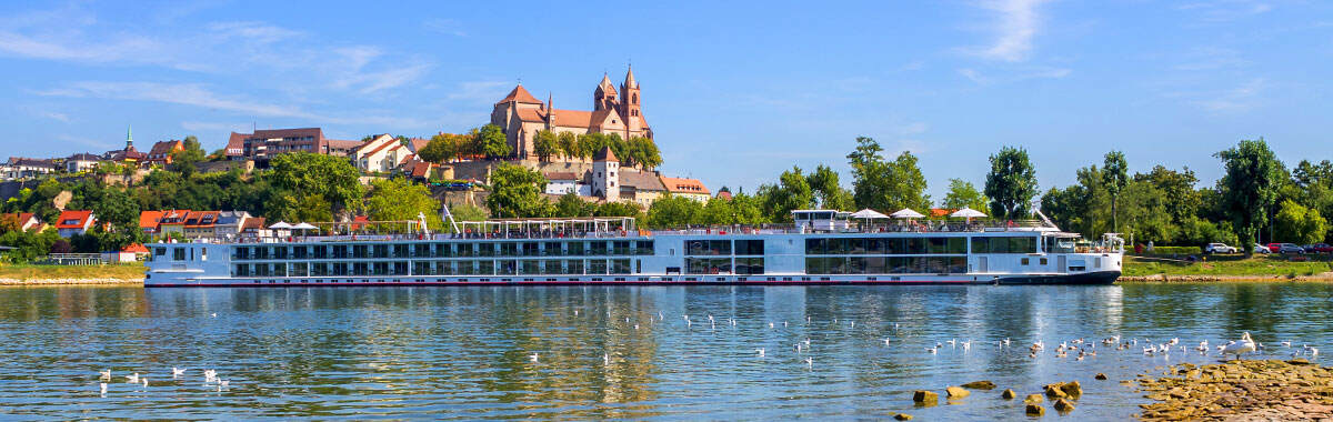 Rhine river cruise in Germany