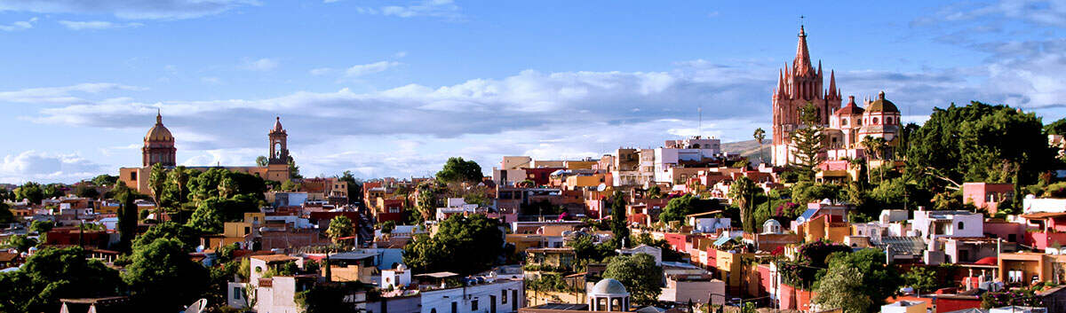 San Miguel de Allende from above, cityscape, Mexico