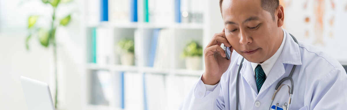 Teladoc doctor on the phone with a patient