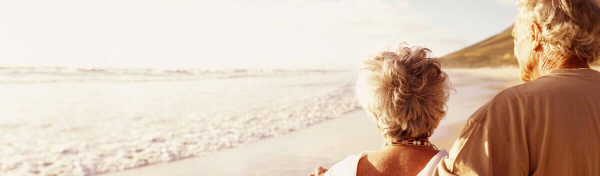 couple walking the beach