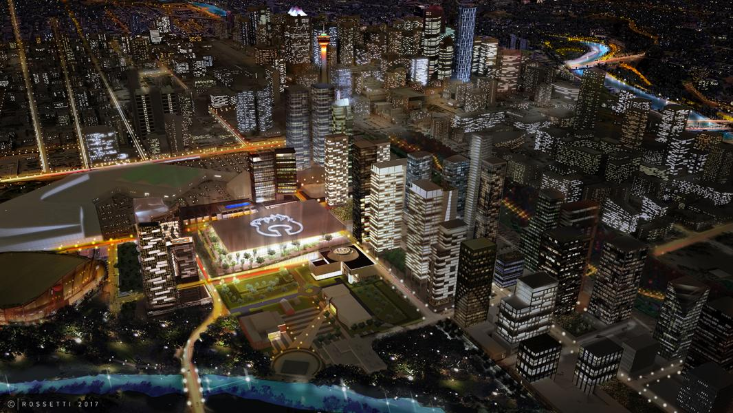 Calgary S Sports And Entertainment District Will Include The Calgary Flames New Arena Building Design Construction