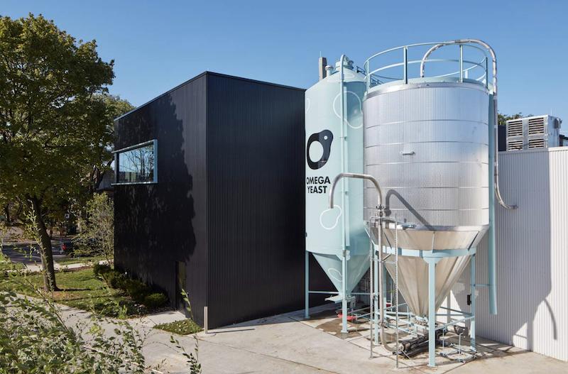 Omega yeast grain silos