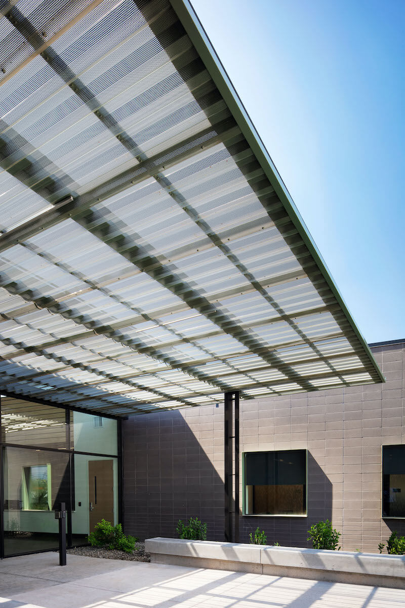 Perforated Metal Canopies Ensure New City Hall Has It Made In The Shade Building Design Construction