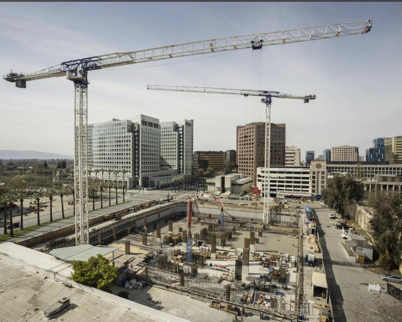 Jobsite of 200 Park in San Jose, Calif.