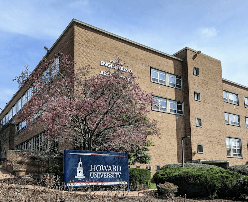 The building housing Howard University's College of Engineering and Architecture
