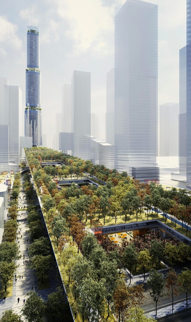 Shenzhen S New Urban Living Room Building Design Construction