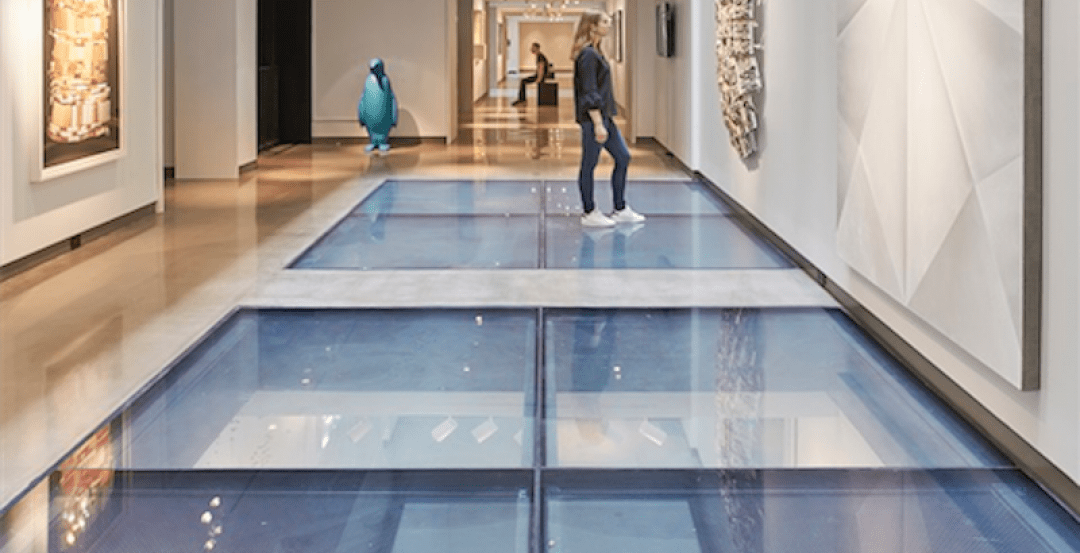 Fire resistive glass floors make a dramatic statement in Nashville's historic neighborhood | Building Design + Construction