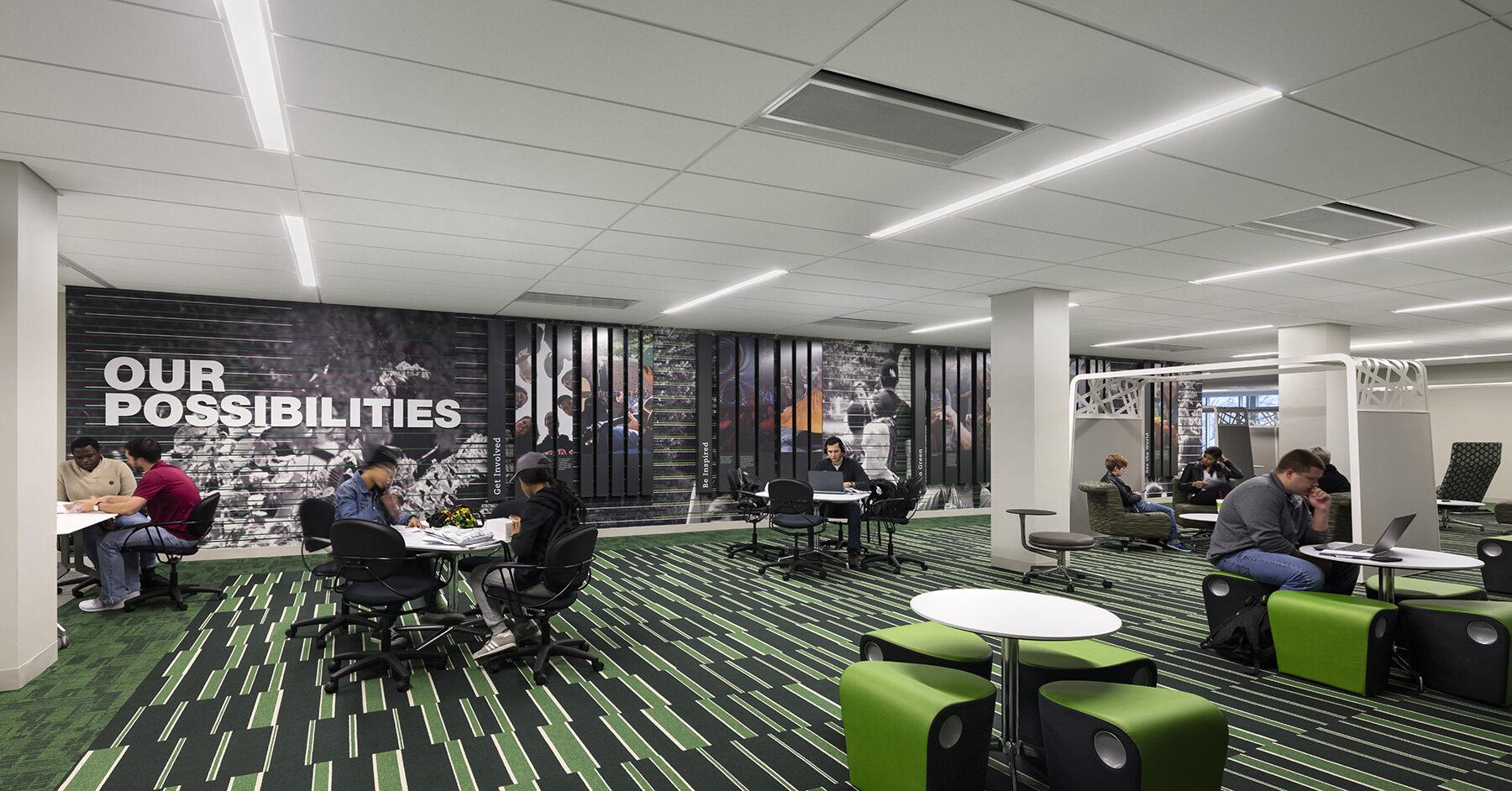 Interior Design For Students A View Into Their Future Building Design Construction,Emerald Green Dark Green Interior Design