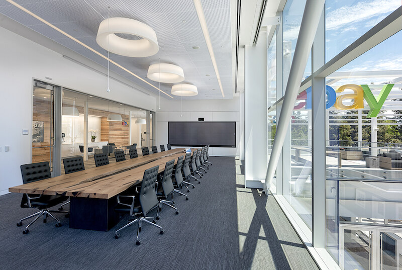 Ebay S San Jose Headquarters Has A New Interactive Hub And Welcome Center Named Main Street Building Design Construction
