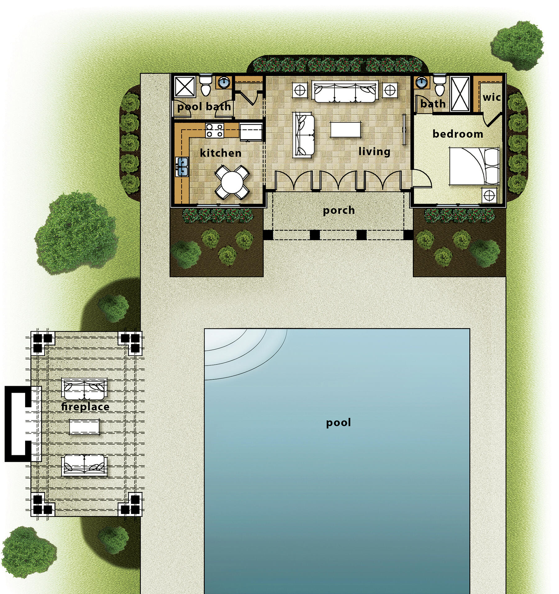 House Design Pool House Cabanas Outdoor Living