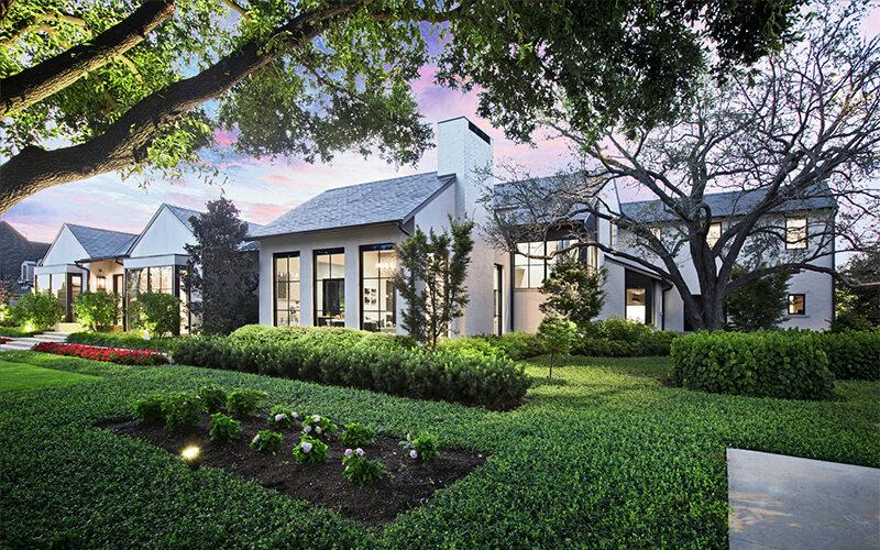 Exterior of modern custom home exterior built using BuildTools construction management software.