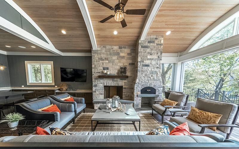 Modern interior of custom home built using BuildTools construction management software.