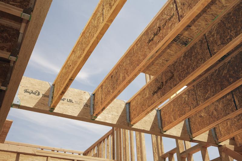 Trus Joist engineered wood installed