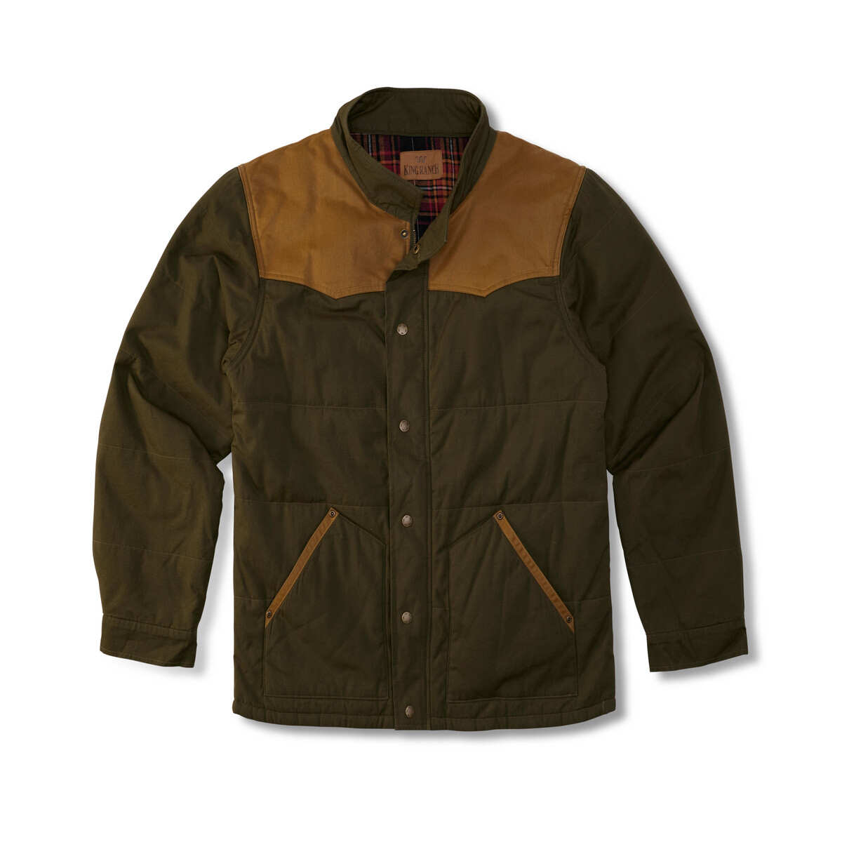 MENS OLIVE AND TAN CONCEAL CARRY JACKET