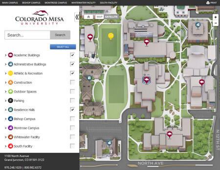 Campus Maps Colorado Mesa Univ