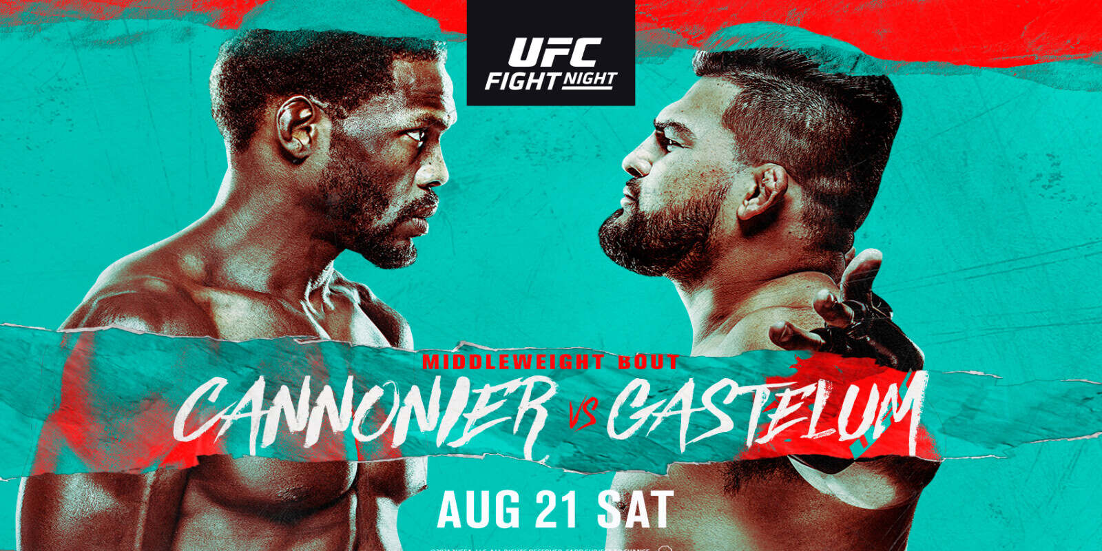Watch UFC Fight Night: Cannonier vs. Gastelum 8/21/21