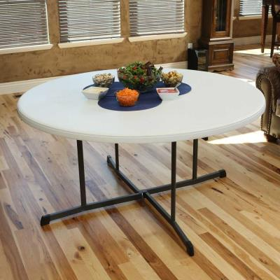 Lifetime 60 Inch Round Fold In Half, Fold In Half Round Table