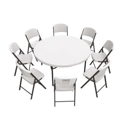 Lifetime 60 Inch Round Table And 8 Chairs Combo