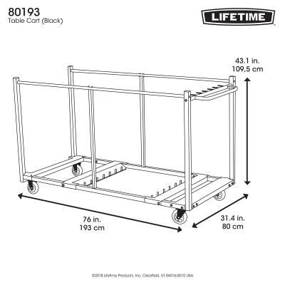 Lifetime Table Cart, Round Table Storage Racks