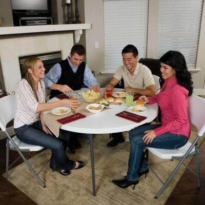 Lifetime 48 Inch Round Fold In Half, 48 Inch Round Table