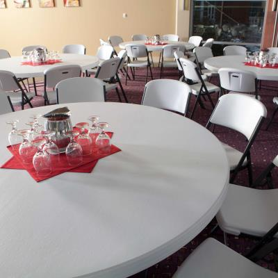 Lifetime 72 Inch Round Table Commercial, What Size Tablecloth Do I Need For 72 Inch Round Table