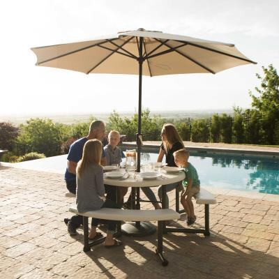 Lifetime 44 Inch Round Picnic Table, Lifetime 44 Round Picnic Table