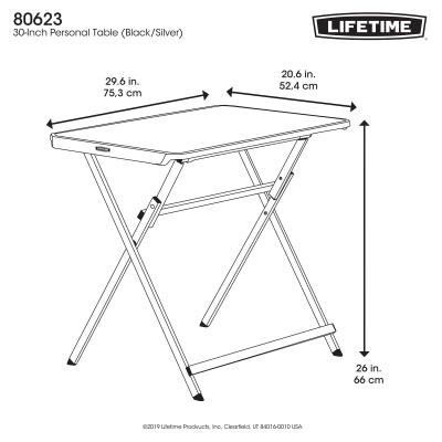 Lifetime 30 Inch Personal Table