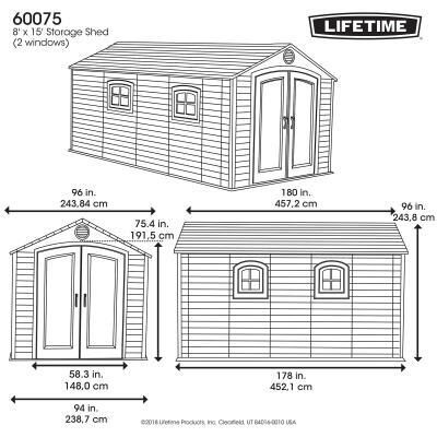 8 Ft X 15 Outdoor Storage Shed