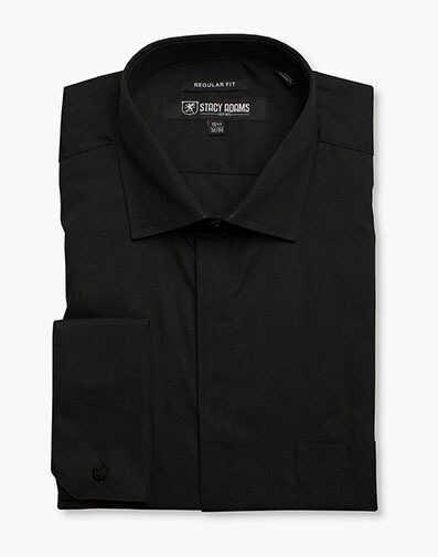 STACY ADAMS Mens Contemporary Modern Fit Dress Shirt