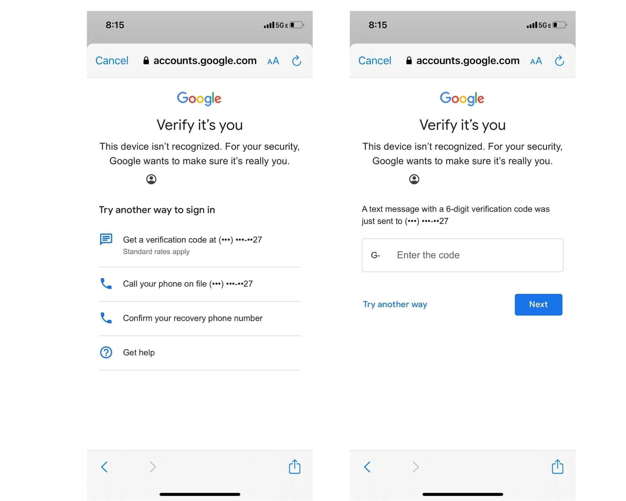 Gmail 需要 OTP 验证才能在新设备上登录 Gmail。