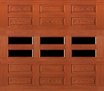 fiberglass garage doors with horizontal windows