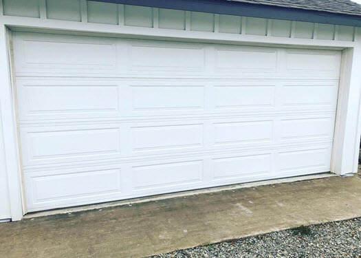 Before garage door transformation