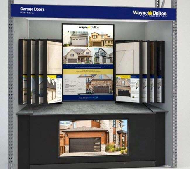 garage door kiosk at Lowes
