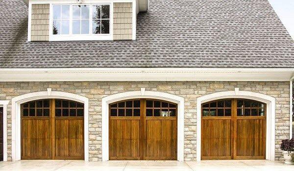 wood garage door design