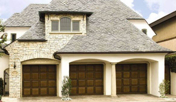 wood garage door custom design