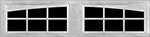 12 Lite Arched window for fiberglass garage doors