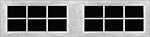 12 Lite Square window for fiberglass garage doors