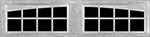 16 Lite Arched window for fiberglass garage doors