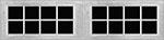 16 Lite Square window for fiberglass garage doors